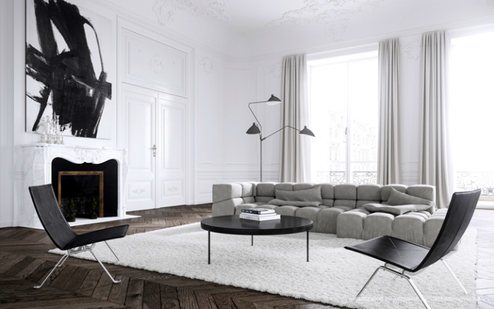 Modern French contemporary parisian Interiors 28
