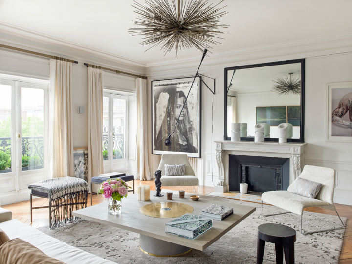 Modern French contemporary parisian Interiors
