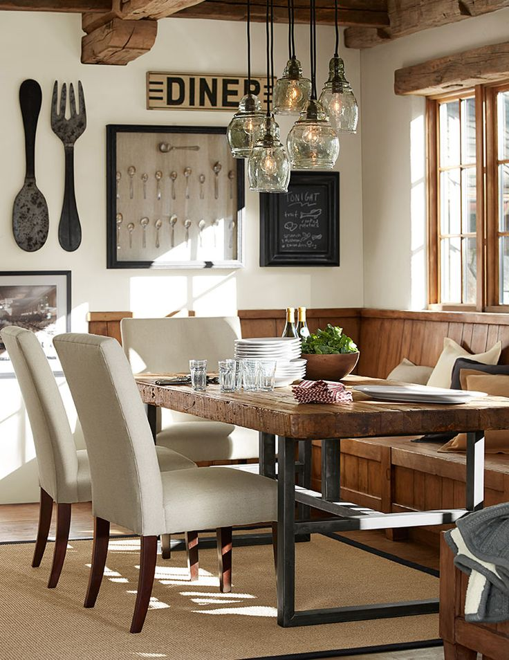 12 rustic dining room ideas decoholic Kitchen table in living room