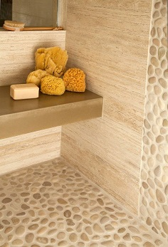 Natural Stone Travertine tile bathroom