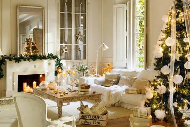 white christmas home decor idea 2