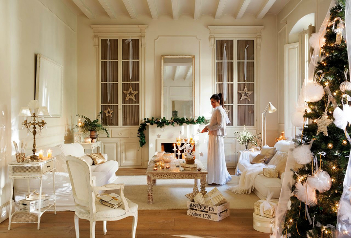 white christmas home decor idea