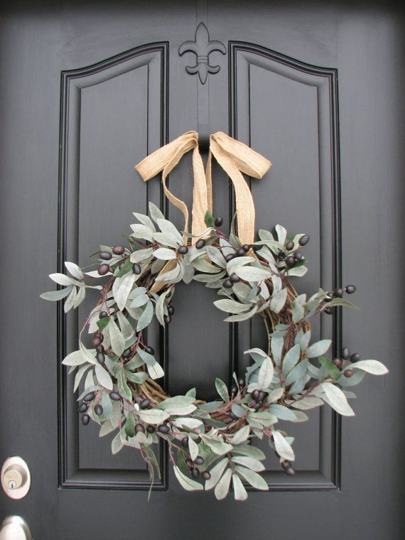 olive branch natural Christmas decoration