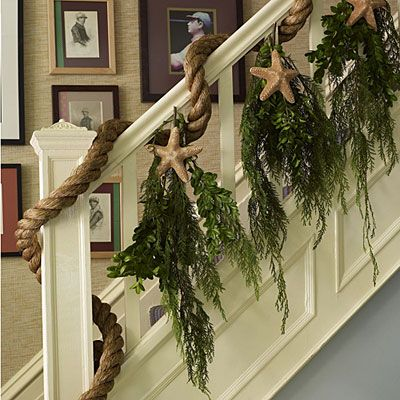 Coastal Christmas Staircase