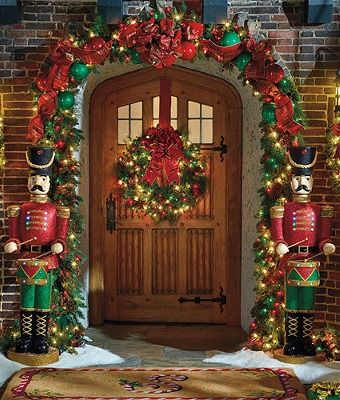 Eclectic Christmas Front Door
