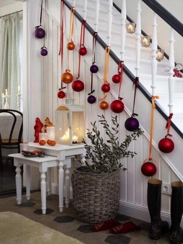 Eclectic Christmas Staircase