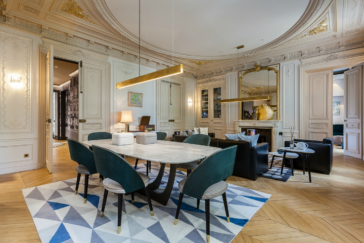 elegant and dramatic interior design ideas by Gerard Faivre Paris 11