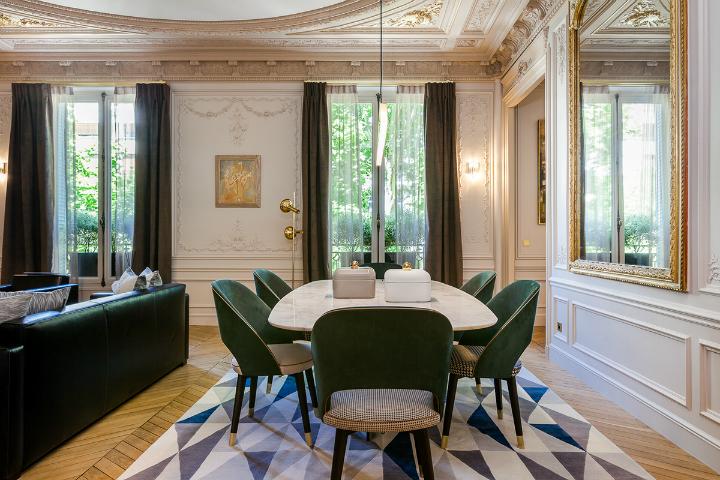 elegant and dramatic interior design ideas by Gerard Faivre Paris 12