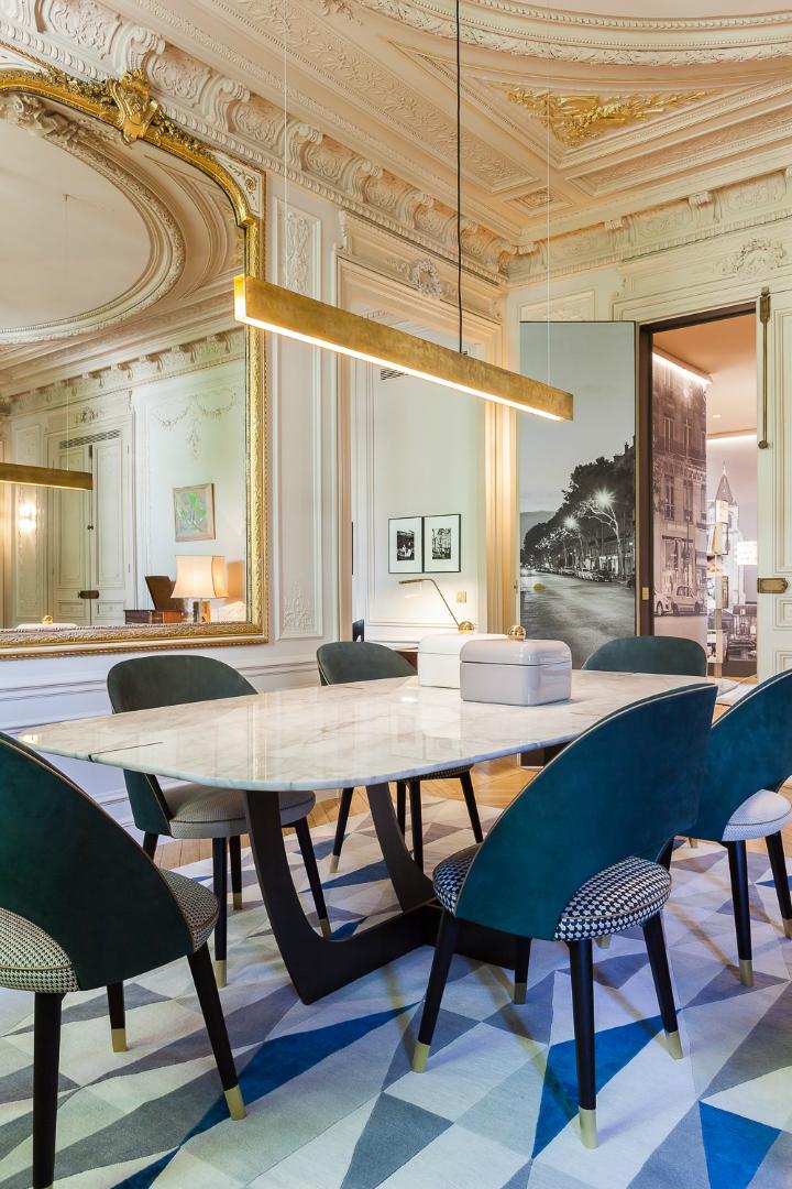 elegant and dramatic interior design ideas by Gerard Faivre Paris 13