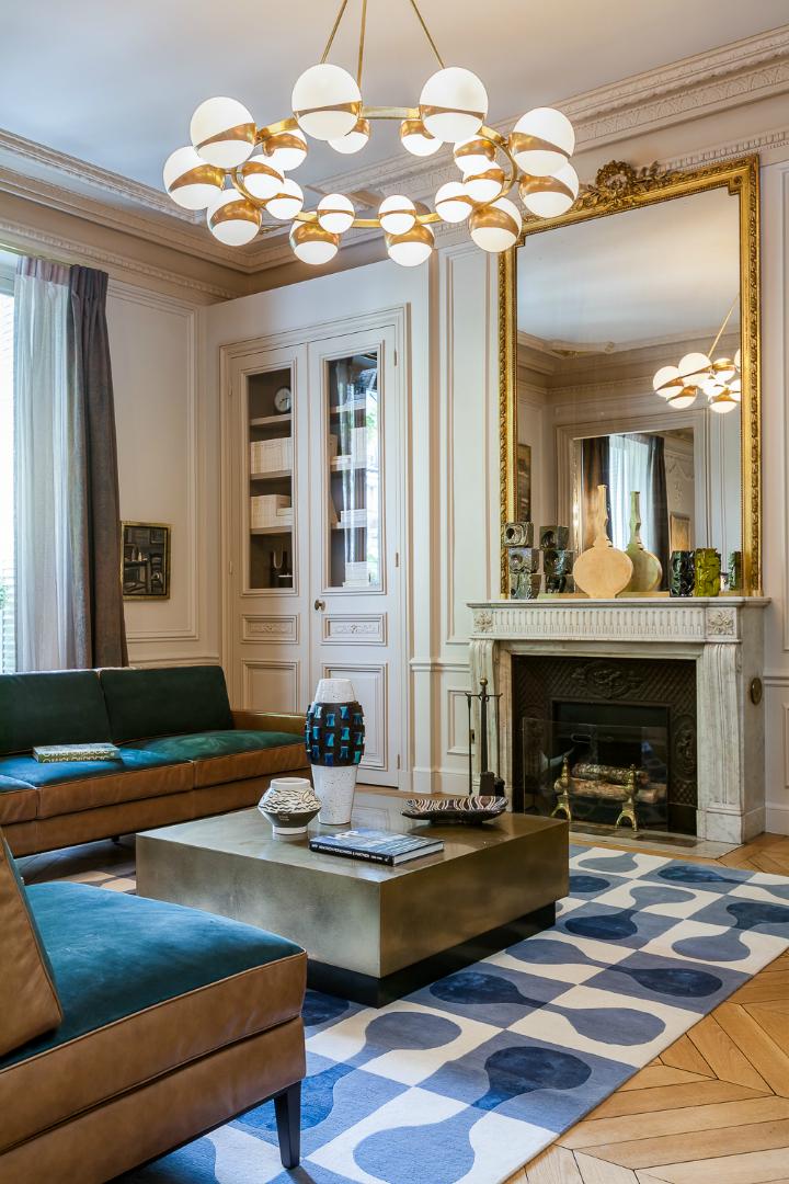 elegant and dramatic interior design ideas by Gerard Faivre Paris 15