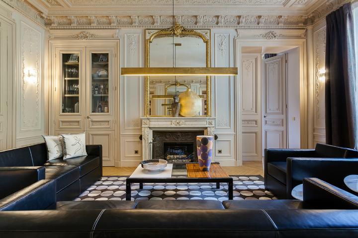 elegant and dramatic interior design ideas by Gerard Faivre Paris 7