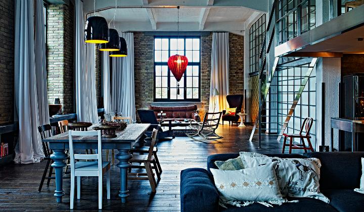 artistic loft interior by A+Z Design Studio 2