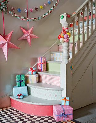 Girly Christmas Staircase