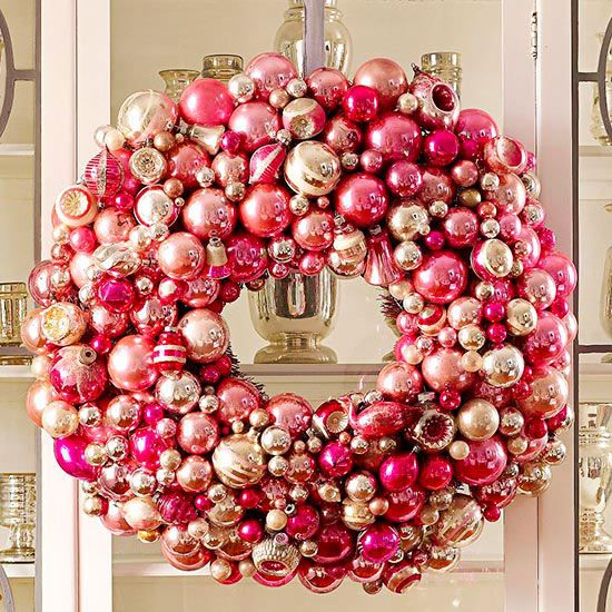 Girly Christmas Front Door