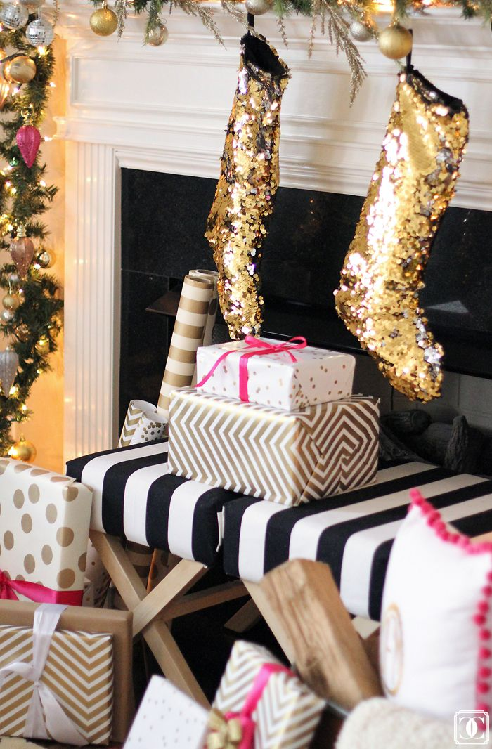 Girly Christmas Mantel