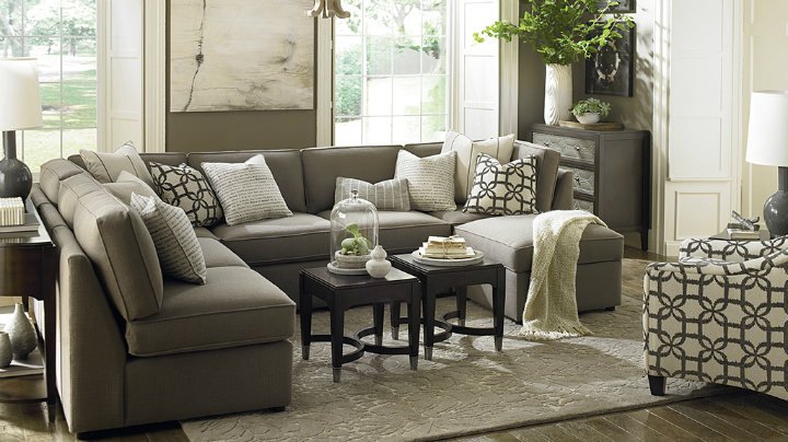 beautiful gray Real Living Room Idea