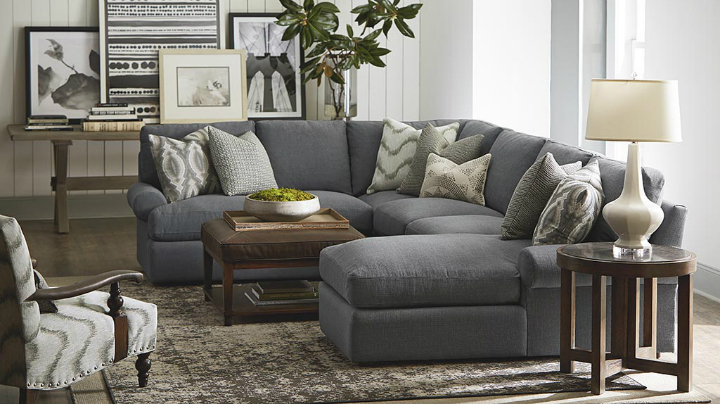 charcoal gray and brown Real Living Room Idea