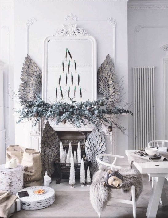 Scandinavian Christmas Mantel
