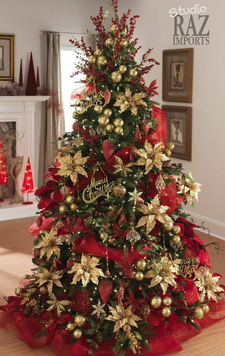 Traditional Red Christmas Tree