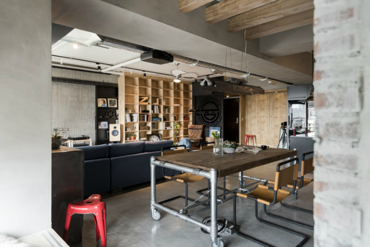 industrial cat friendly loft interior design 10