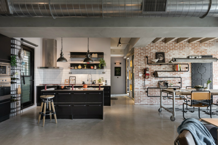 industrial cat friendly loft interior design 11