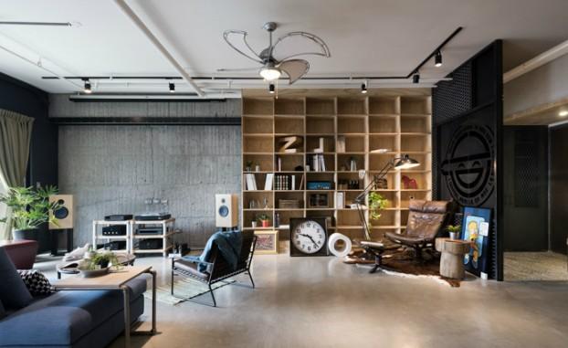 industrial cat friendly loft interior design 12