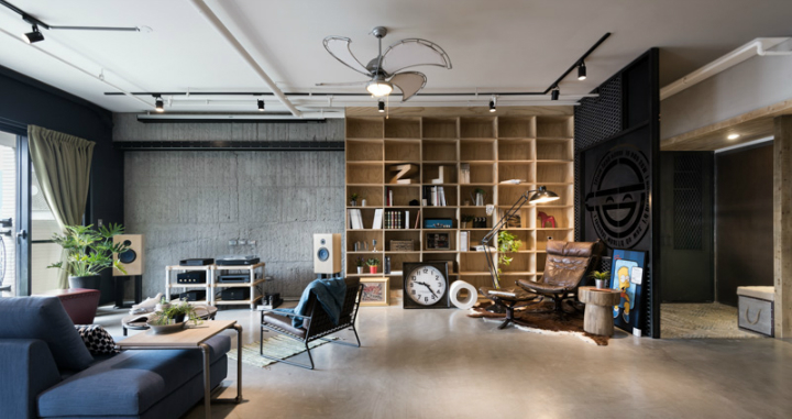industrial cat friendly loft interior design 12