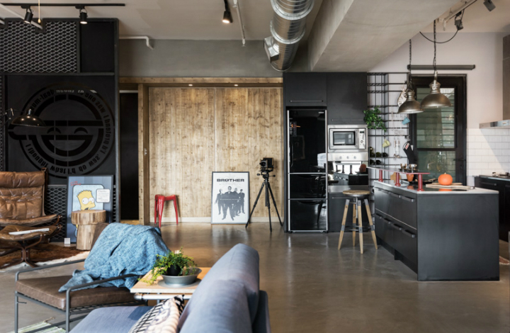 industrial cat friendly loft interior design 13