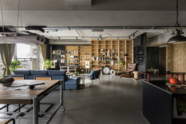 industrial cat friendly loft interior design 17