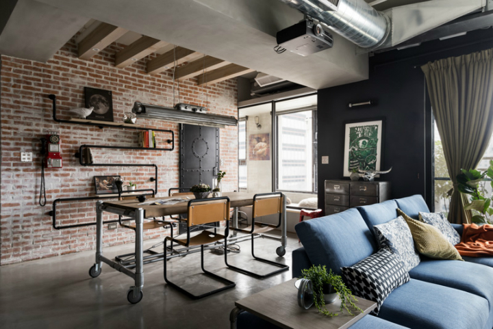 industrial cat friendly loft interior design 19
