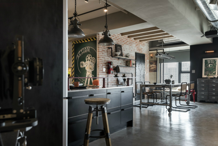 industrial cat friendly loft interior design 7