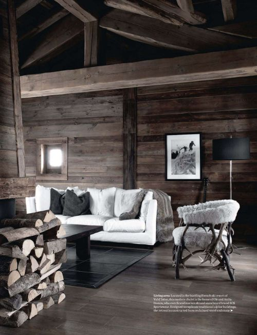 chalet chic living room wall decor