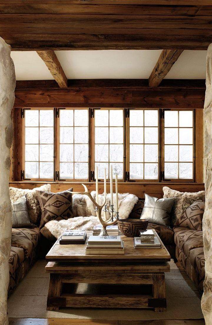 chalet chic ralph lauren living room