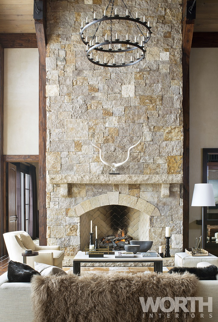 10 chalet chic living room ideas for ultimate luxury and for Luxury fireplace designs