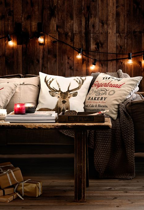 chalet chic living room pillow idea