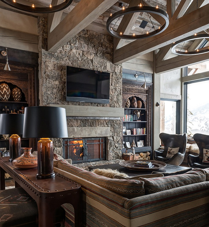 Family Roomdesign Ideas: 10 Chalet Chic Living Room Ideas For Ultimate Luxury And