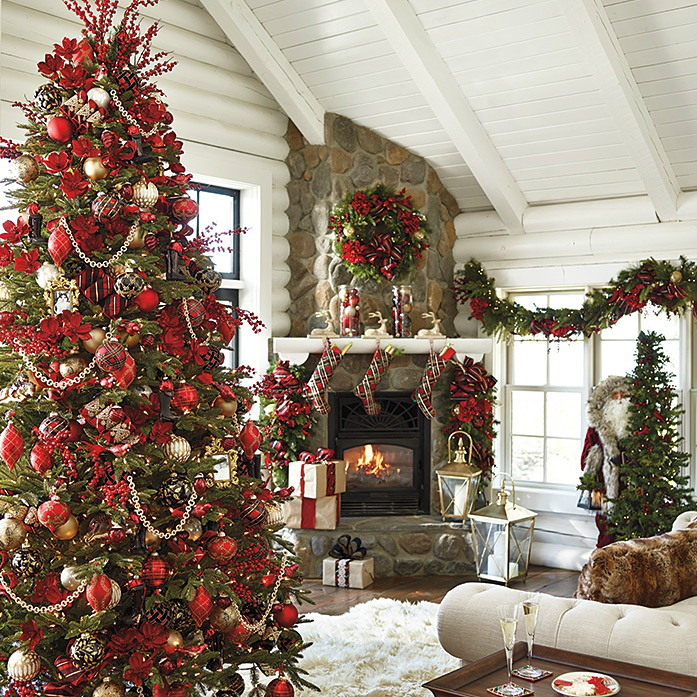 christmas elegant decorating ideas - Homes Decorated For Christmas On The Inside