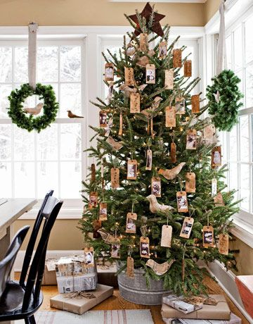 Christmas tree for country decorating style