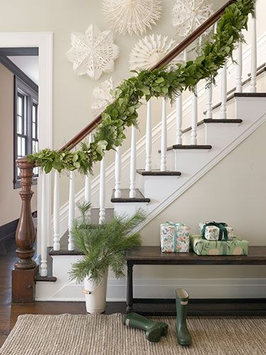 Country Christmas Staircase