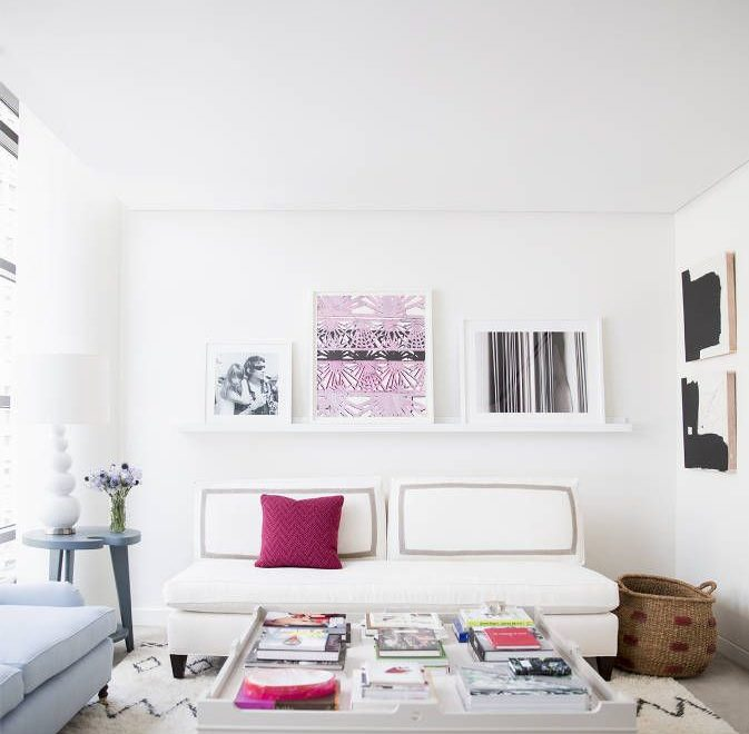 The sitting room of Eva Chen Lucky's editor in chief