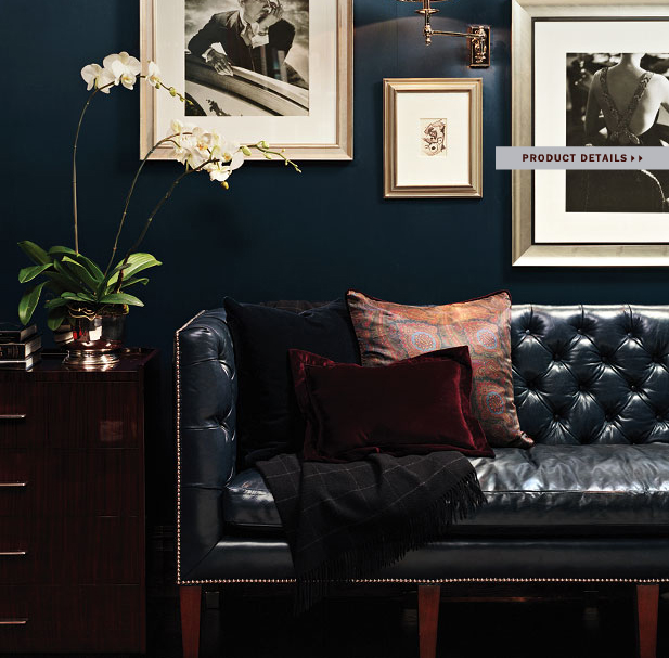 Wall Decor With Leather Furniture : How to decorate a living room with black leather sofa