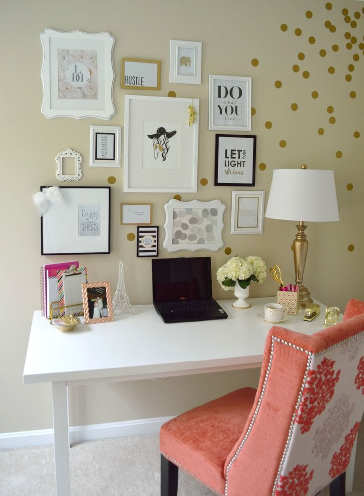feminine home office painting idea