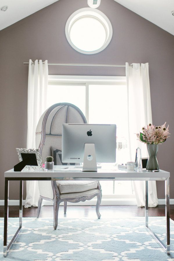 home office with fancy furniture