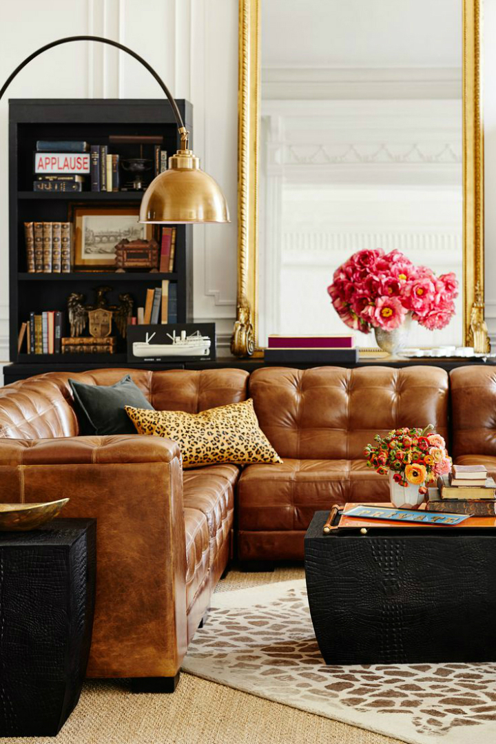 5 living room ideas make it more inviting and welcoming for Leather couch family room