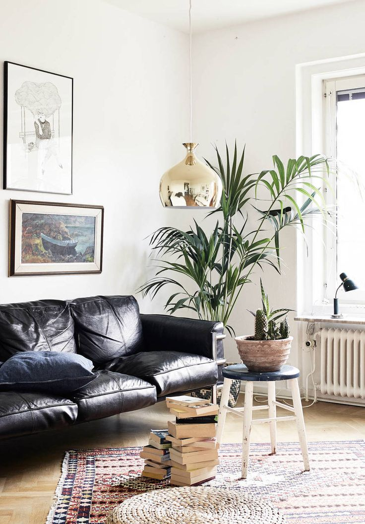 How To Decorate A Living Room With A Black Leather Sofa ...