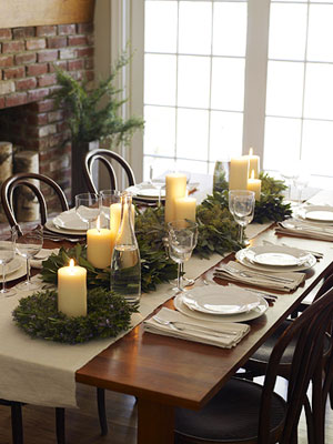 Simple Christmas Dining Table