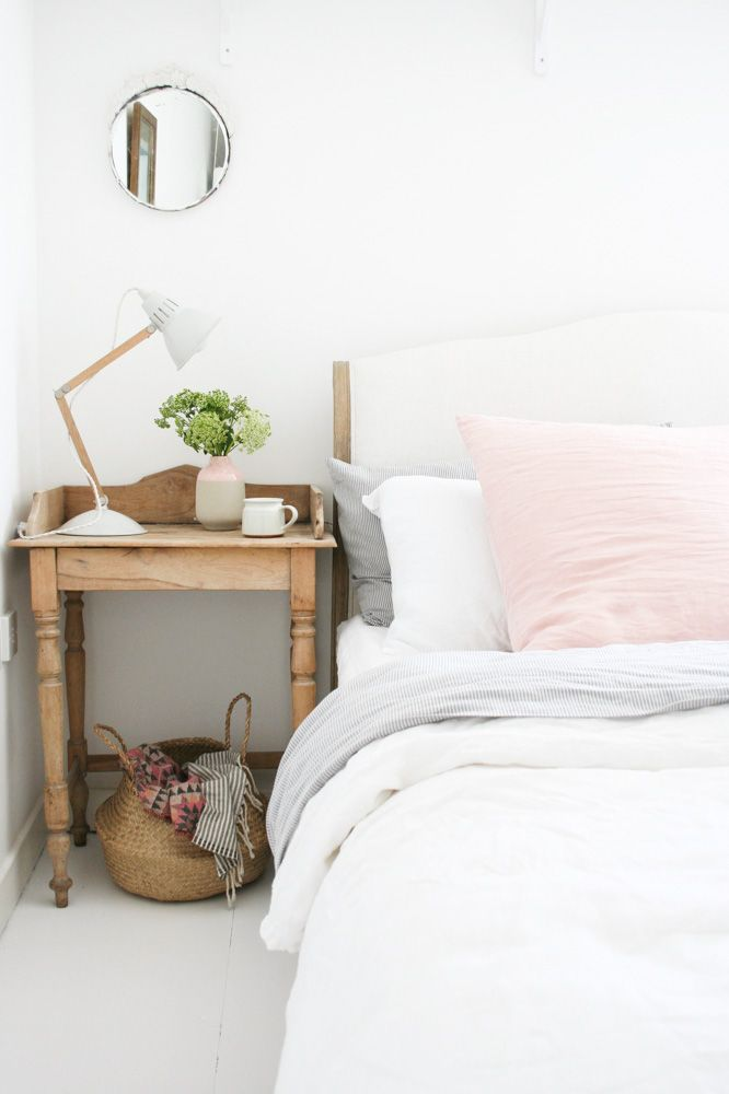 subdued colors in the bedroom