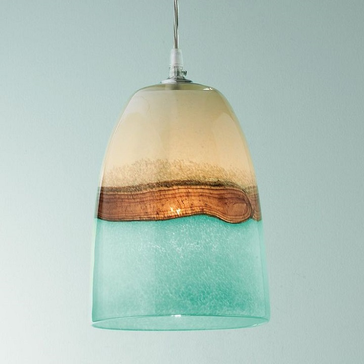 Strata Art Glass Pendant Light