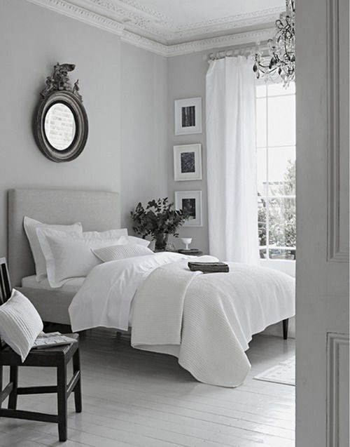 shades of grey and white in room