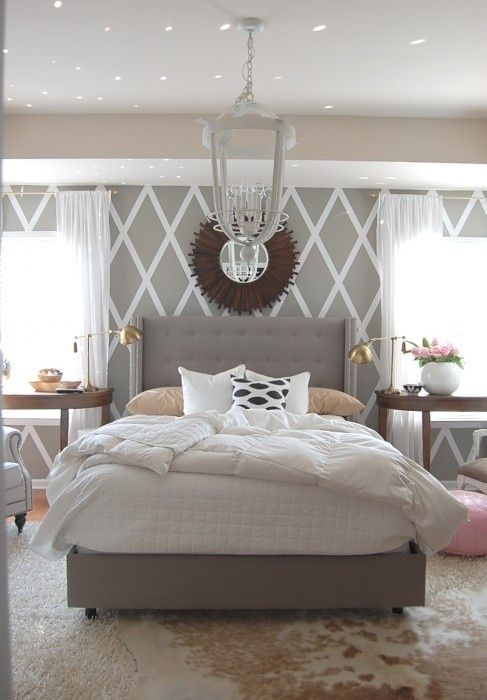 special mirror above double bed